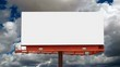 Blank Billboard with Time Lapse Clouds