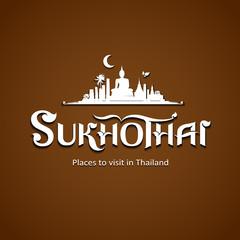 Sukhothai Province message text design background