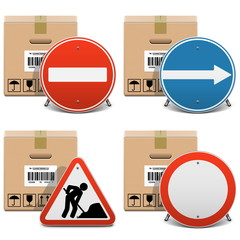Vector Shipment Icons Set 23