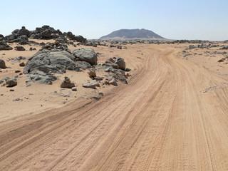 The road between Wadi Halfa and Khartoum.