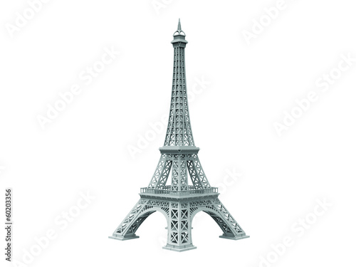 eifel tower isolated sideview