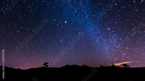 Leinwandbild Motiv Nachtlandschaft auf Teneriffa