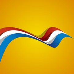 Abstract cover Netherlands ribbon vector