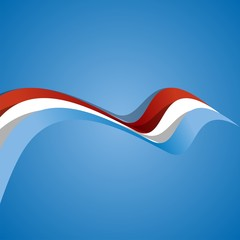 Abstract cover Luxembourg ribbon vector