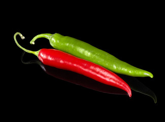 red and green chilli peppers