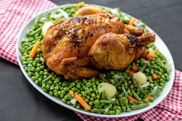 poulet entier roti et jardinière 4