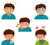 sickness symptoms poster