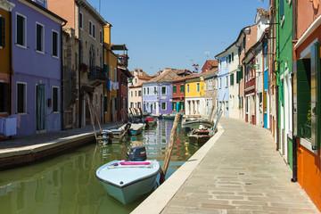 Italy , Venice. Street on the island of Burano