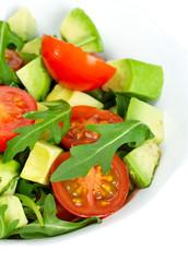 rugula avocado and tomato salad