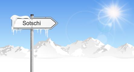 Schild Winter Sotschi