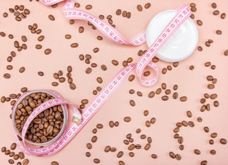Anti-cellulite cream with caffeine concept
