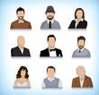 Set of nine avatars