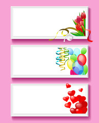 Greeting card for Valentine's Day.