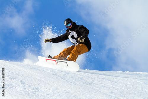 Leinwanddruck Bild slalom