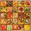 pasta italiana in bacheca collage