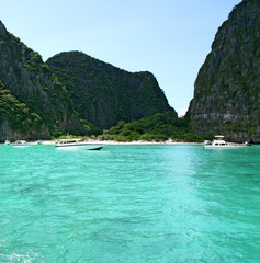 Tropical island resort Phi-Phi island Province Krabi Thailand
