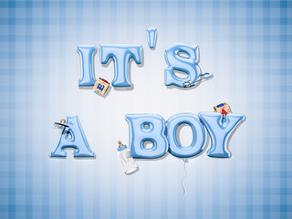 It's a boy. 3d illustration