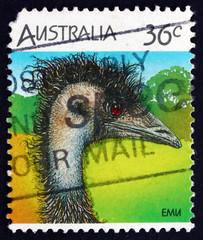 Postage stamp Australia 1986 Emu, bird