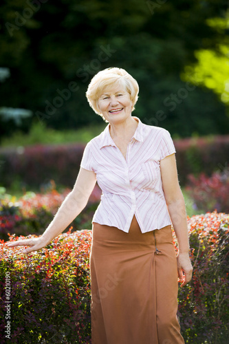 Serenity. Graceful Good Looking Senior Woman in Casual Clothes