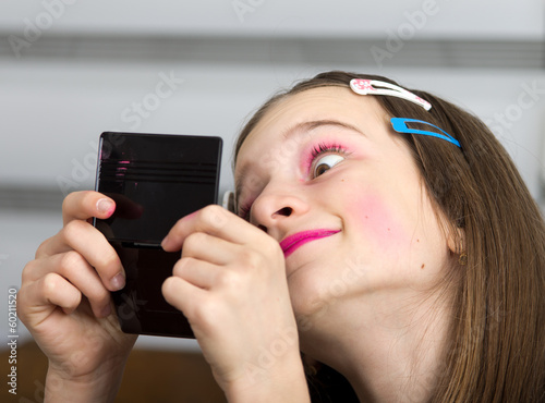 Girl with makeup