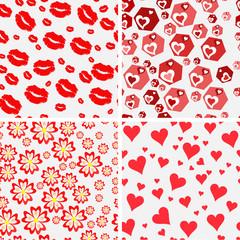 Set of seamless love patterns.