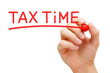 Tax Time Red Marker