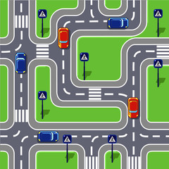Road (seamless pattern)