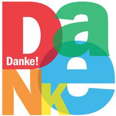 """""""DANKE"""" Karte (Dankbarkeit Vielen Dank Schön Sehr Frieden)"""