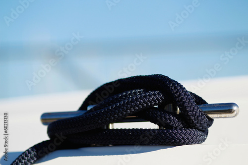 Black rope knot