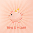 Piggy bank background
