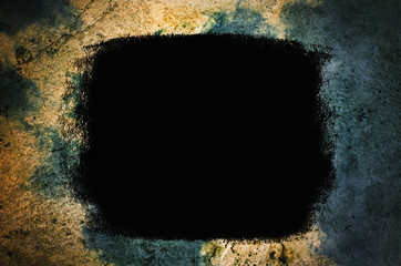 Black painted grunge background texture