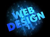Web Design on Dark Digital Background.