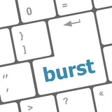 Computer keyboard with burst key. business concept