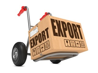 Export - Cardboard Box on Hand Truck.