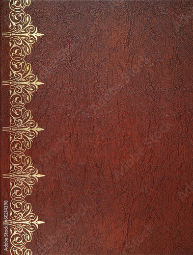 Fotobehang Stof Brown leather cover