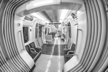 Inside the train. London underground