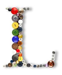 Buttons alphabet  - letter L -
