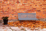 bench near wall