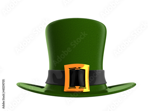 Illustration of green hat in saint Patrick Day