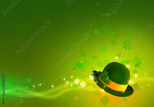 St. Patrick's day background. St. Patrick's hat