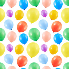 Colorful balloon composition