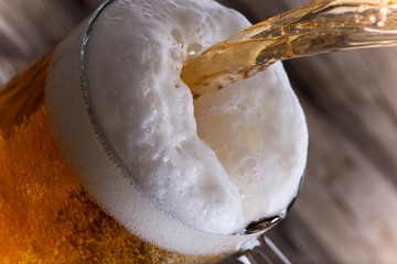 Glass of beer, close-up
