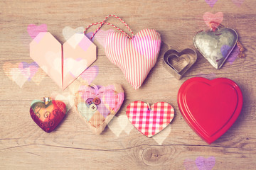 Valentine's day background with heart shapes