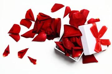 Geschenk Rosenblüten
