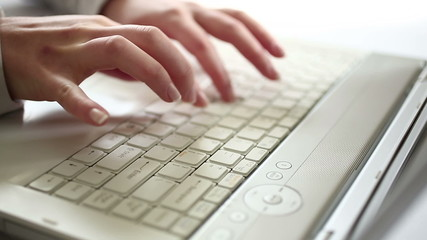 Typing on laptop - HD