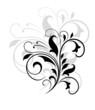Swirling floral pattern