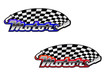 Motor racing icons in two colour options