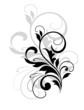 Scrolling foliate design element