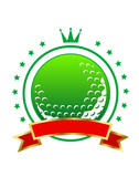 Golfing championship icon or winners banner