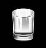 szklanka na czarnym tle - 60217369
